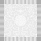 Apolline White Napkin Square 21 in