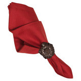"Herringbone Napkin Ruby 22""Sq"