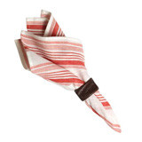 "Provence Stripe Napkin Ruby 22""Sq"
