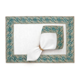 Fortuny Placemats Farnese Blue (Set of 4) 20 x 14 in