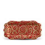 Fortuny Platter Rectangular Maori Red 8 x 16 in