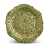 Fortuny Platter Round Alberelli Green 14 in