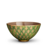Fortuny Serving Bowl Medium Piumette Green 9 x 4.5 in
