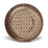 Fortuny Platter Round Ashanti Grey 18 in