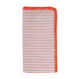 Seersucker Napkins - Natural/Orange