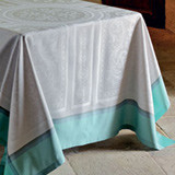 Jardin A La Francaise Celadon Easy Care Table Linens