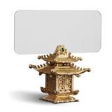 Pagoda Placecard Holders, Six