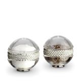 Braid Platinum Salt & Pepper Shakers