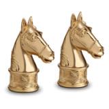 Horse Gold Salt & Pepper Shakers