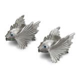 Fish Platinum Salt & Pepper Shakers