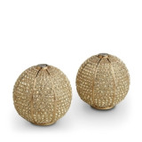 Pave Sphere Gold Salt & Pepper Shakers