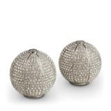 Pave Sphere Platinum Salt & Pepper Shakers
