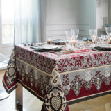 Adagio Bordeaux Table Linens