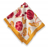 Pomegranate Yellow/Red Napkin 19 x 19 in, Six