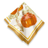 Pumpkin Orange/Mustard Napkins 19 x 19 in, Six