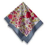 Jardin Red/Grey Napkins 19 x 19 in, Six