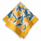 Lemon Tree Yellow/Blue Napkin 19 x 19 in, Six