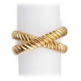 Deco Twist Gold Napkin Rings - Four