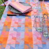 Mille Cubes Dusk Table Linens