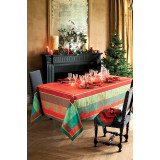Noel Illustre Red Easy Care Table Linens