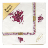 Chinese Bouquet Raspberry Paper Napkins Pack Of 20