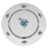 Chinese Bouquet Dinnerware - Turquoise/Platinum