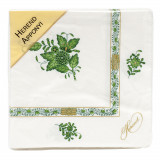 Chinese Bouquet Green Paper Napkins Pack Of 20