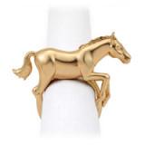 Horse Gold Napkin Rings, Four