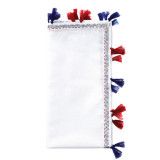 Pom Pom White/Navy/Red Napkins