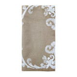 East West Taupe/White Napkins
