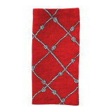 Nautical Knot Napkin - Red/White