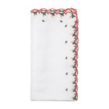 Silent Night White/Red/Green Napkins