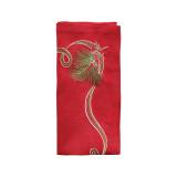 Pine Sprig Red/green/gold Napkins
