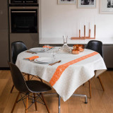 Filigrane Coated Grey Table Linens