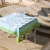 Jardin Royal Blue Fountain Table Linens