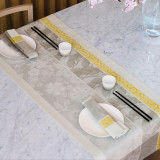 Sakura Litchi Beige Table Linens