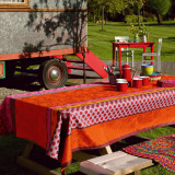 Zingaro Orange Coated Table Linens