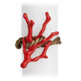 Coral Gold Napkin Rings - Four