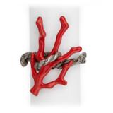 Coral Platinum Napkin Rings - Four
