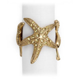 Starfish Gold Napkin Rings - Four