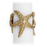 Starfish Gold Napkin Rings - Four