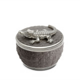 Grey Crocodile Candle