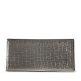 Grey Crocodile Rectangular Tray