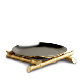 Bamboo Boat 14 in Round Platter