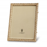 Deco Twist Pave w//White Crystals Gold Frame