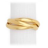 Three-Ring Gold Napkin Rings, Four