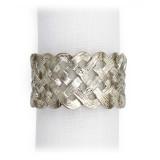 Braid Platinum Napkin Rings, Four