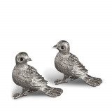 Bird Platinum Salt & Pepper Shakers