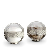 Pave Band Jewel Platinum/White Crystals Salt & Pepper Shakers