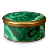 Malachite Round Box